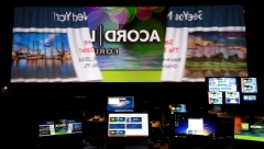 Acord Loma Widescreen Event backstage from Graphics World with Partner PRG